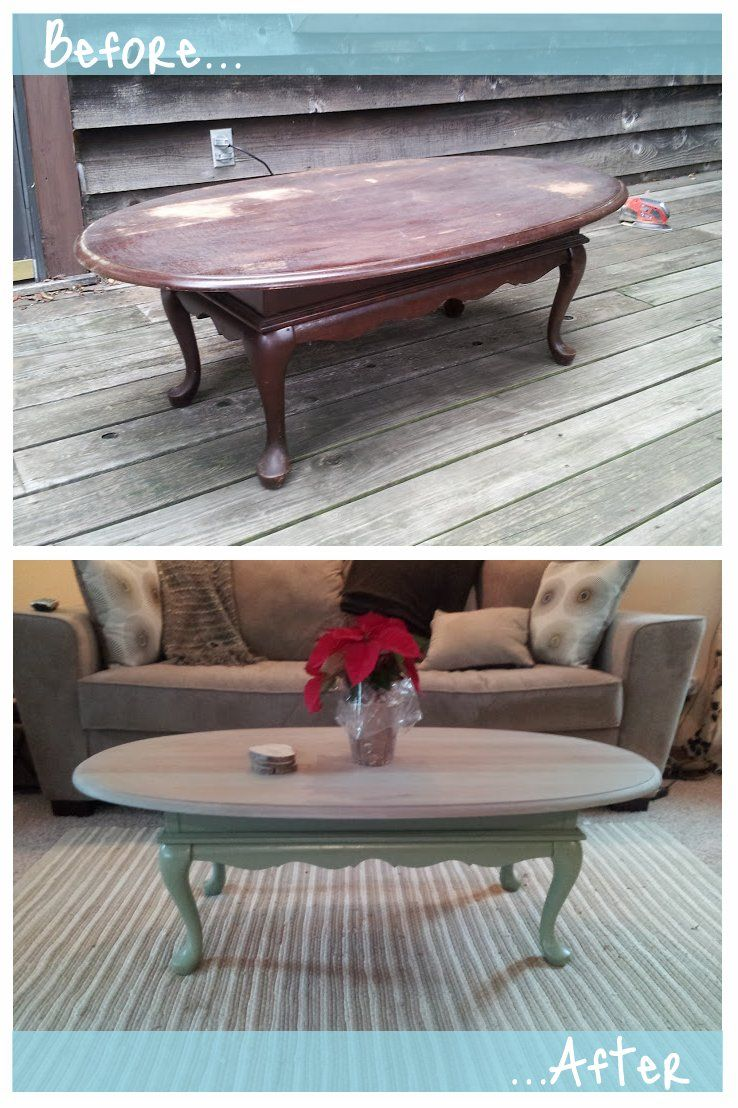 Before And After Coffee Table Refinished Diy