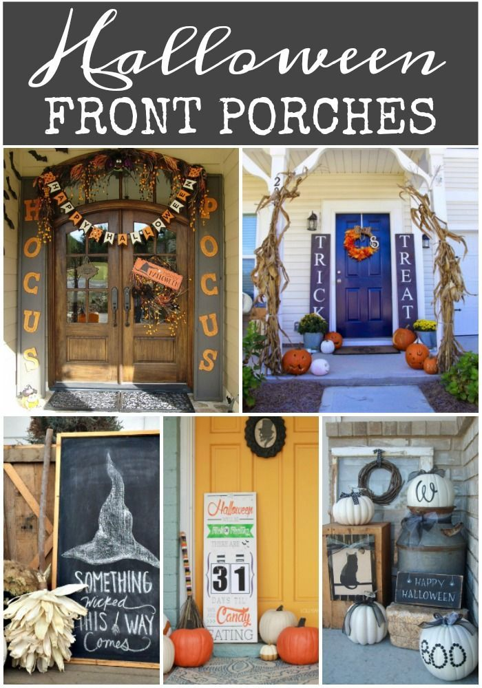 Halloween Porch Ideas Halloween porch, Porch and Front porches - decorating front porch for halloween