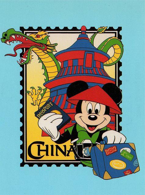 Mickey in China postcard   Disney mickey, Disney clipart ...