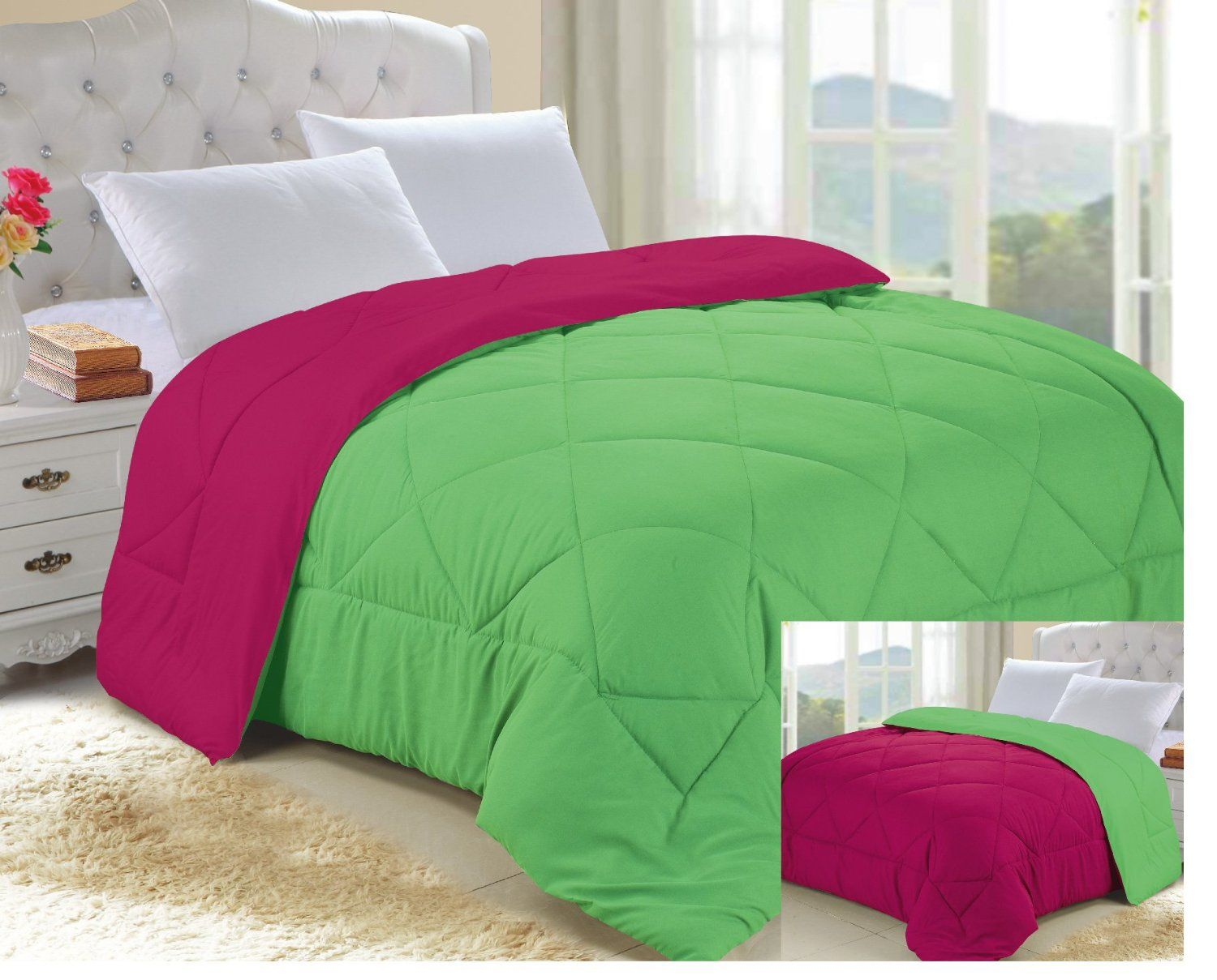 Lime Green Comforter Bedding | Green comforter, Comforter and ... : lime green quilts - Adamdwight.com