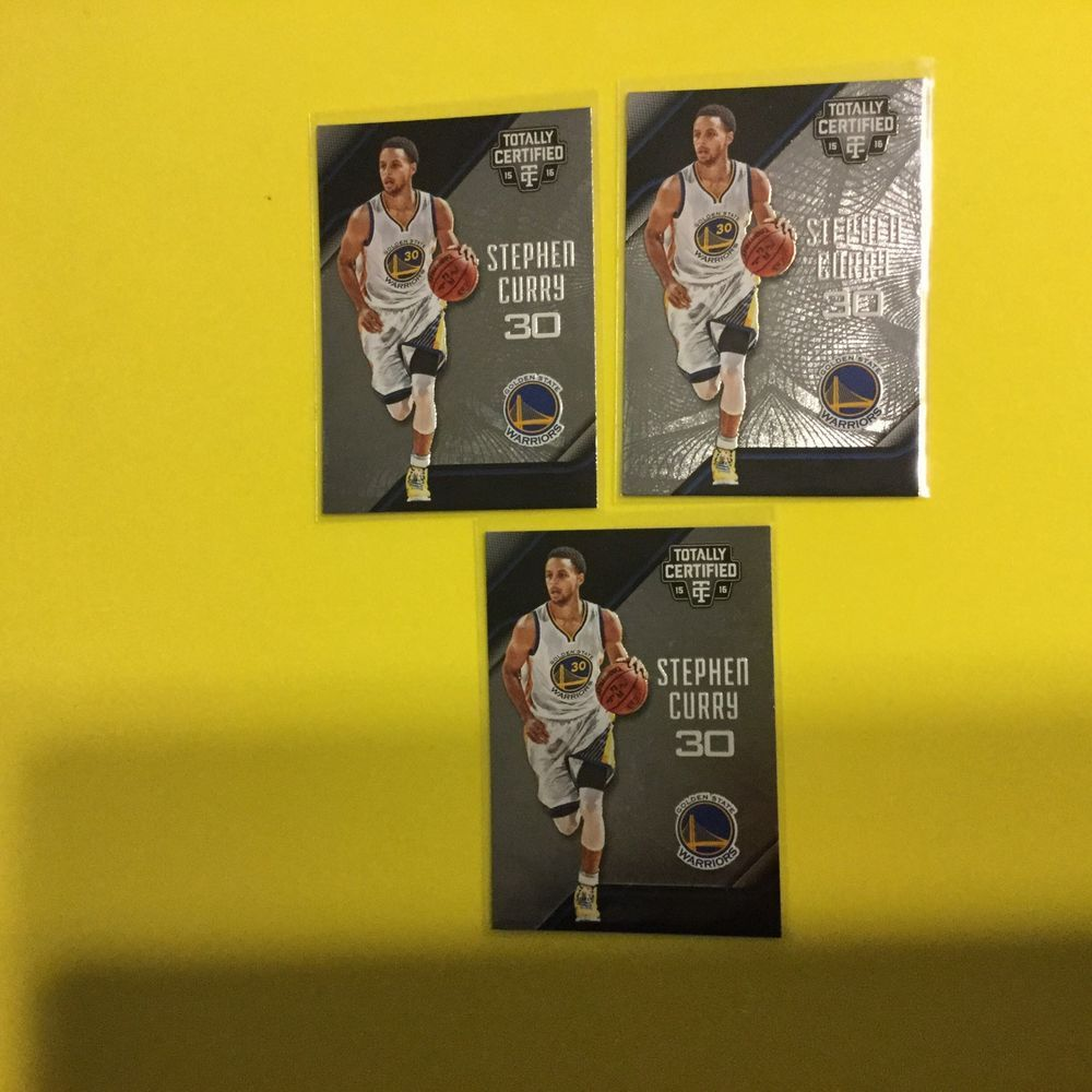 2015/16 Totally Certified STEPHEN CURRY Lot Of 3 #IndianaPacers
