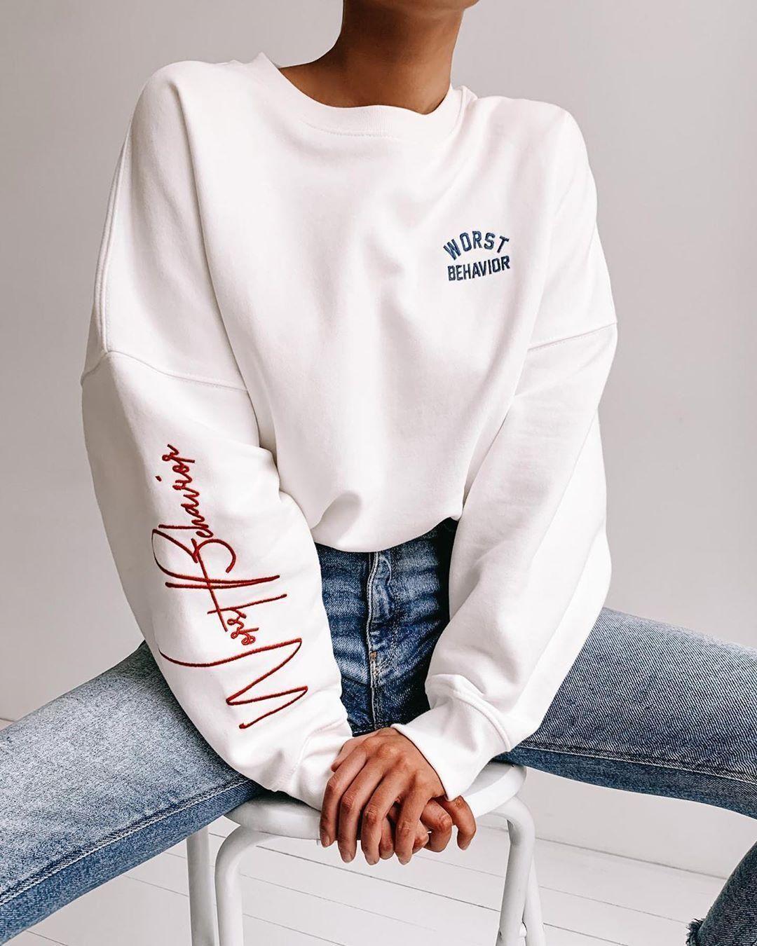 Sweater 80 At Worst Behavior Com Wheretoget Shirt Design Inspiration Fashion Hoodie Design [ 1350 x 1080 Pixel ]