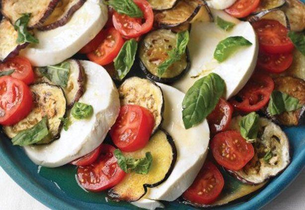 Eggplant, Tomato & Mozzarella Salad Recipe
