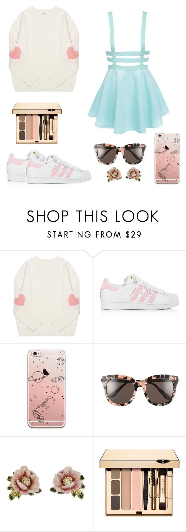 """""""♥"""" by uucuvg ❤ liked on Polyvore featuring beauty, adidas, Gentle Monster and Les Néréides"""