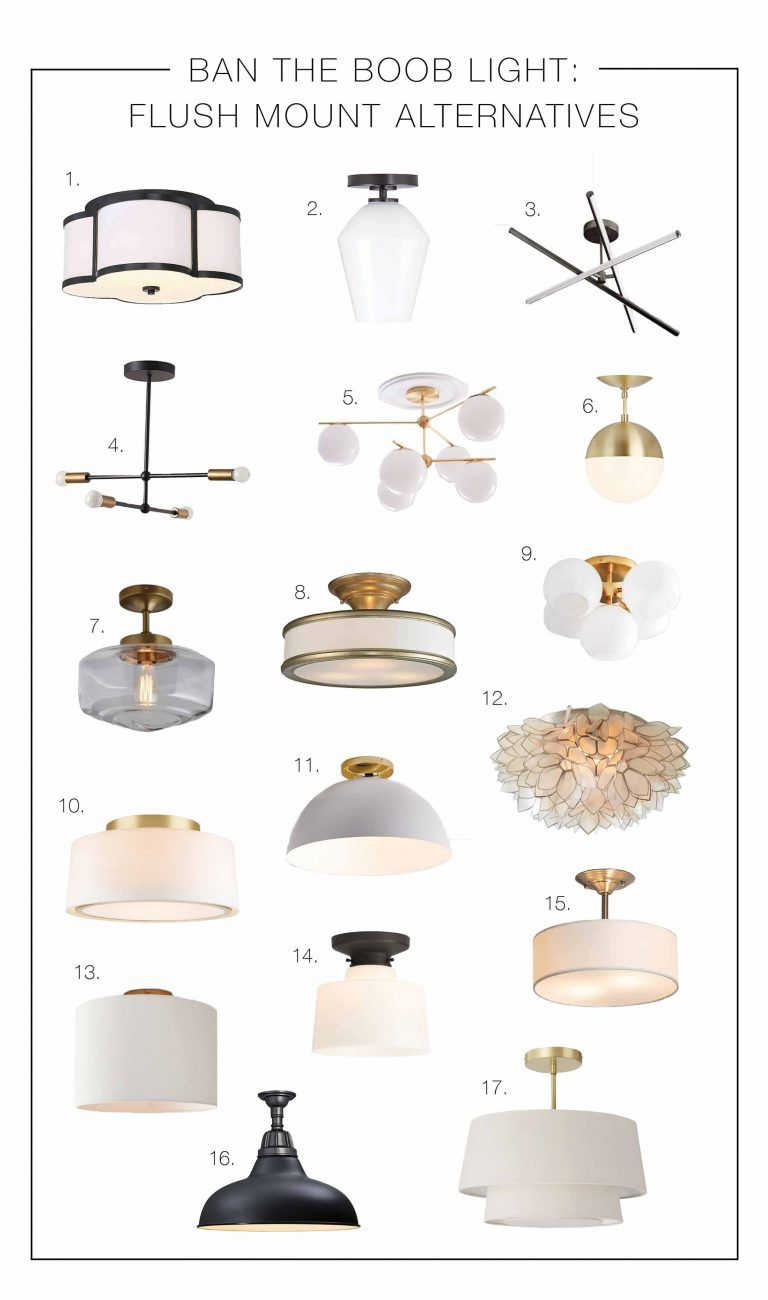 Ban The Boob Light: 20 Flush Mount Alternatives | The Mom Edit