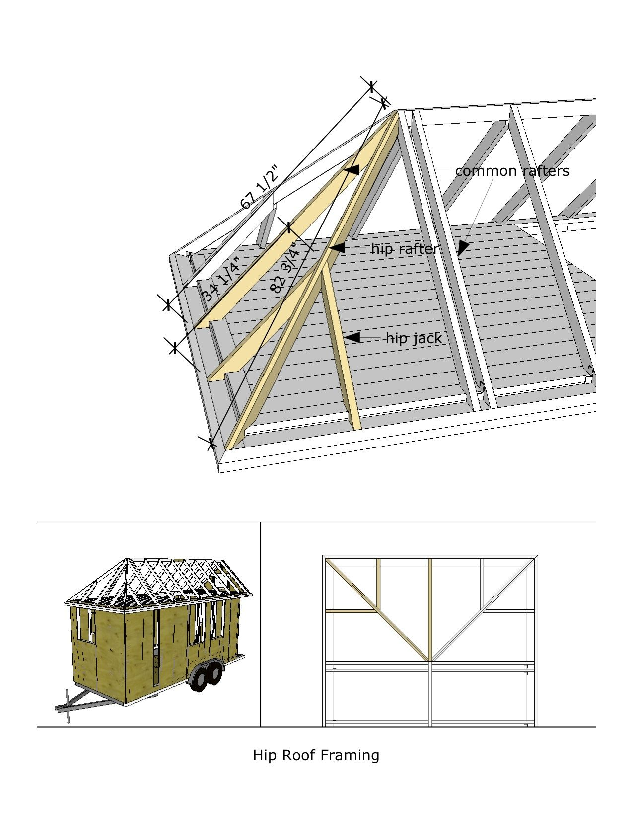 Baja Ringan Pdf Woodwork Cabin Plans Hip Roof Design