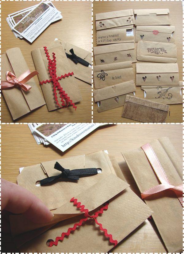 Kind Over Matter Business Card Envelopes - Inspiration for a gift ...