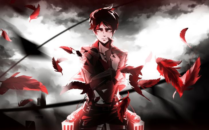 Eren Jaeger Salute Attack On Titan E02 Hd Wallpaper Kyojin Shingeky Shingeki No Kyojin Wallpaper