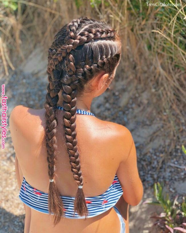 Dutch Braids And Buns Inspired By Prett Messybun - Hair Beauty