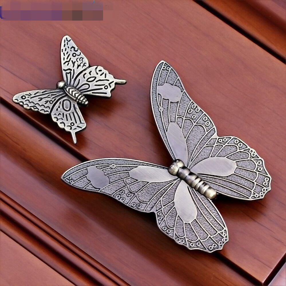 1 0aud 1vintage Butterfly Door Kitchen Drawer Cabinet Closet