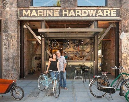 "Dutch Bike Co 's company's motto—""Bicycles, Coffee, Beer"