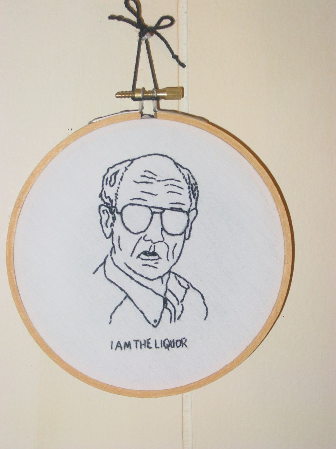 Mr Lahey Trailer Park Boys Tribute Finished Embroidery In Hoop With Hanger By Trailer Park Boys Cross Stitch Embroidery