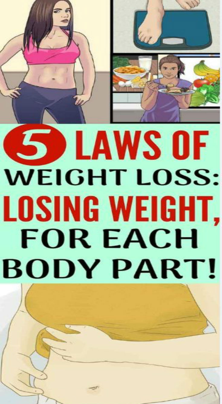 5 Laws of Weight Loss: Losing Weight, for Each Body Part! - Daily Rumors