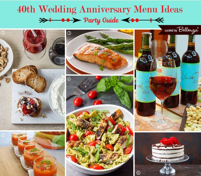 40th Wedding Anniversary Party Guide Ruby Inspired Anniversary Food Wedding Anniversary Party Food Anniversary Party Foods