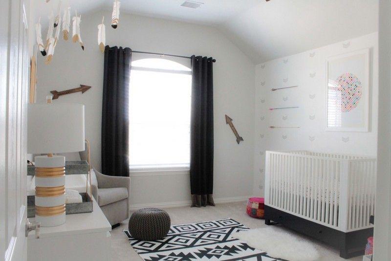 Babyzimmer Im Skandinavischen Stil Gestalten Beispiel In Schwarz