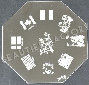 BF-Beauty.com *** Nail Art Stamping Plate - M56 ***