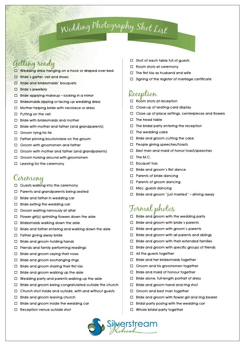 Simple Wedding Checklist Related Photos For Decoration Planners