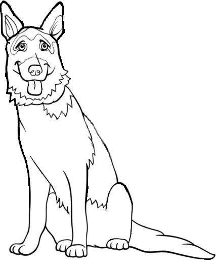 Colouring- German Shepherd | Puppies/Dogs | Pinterest