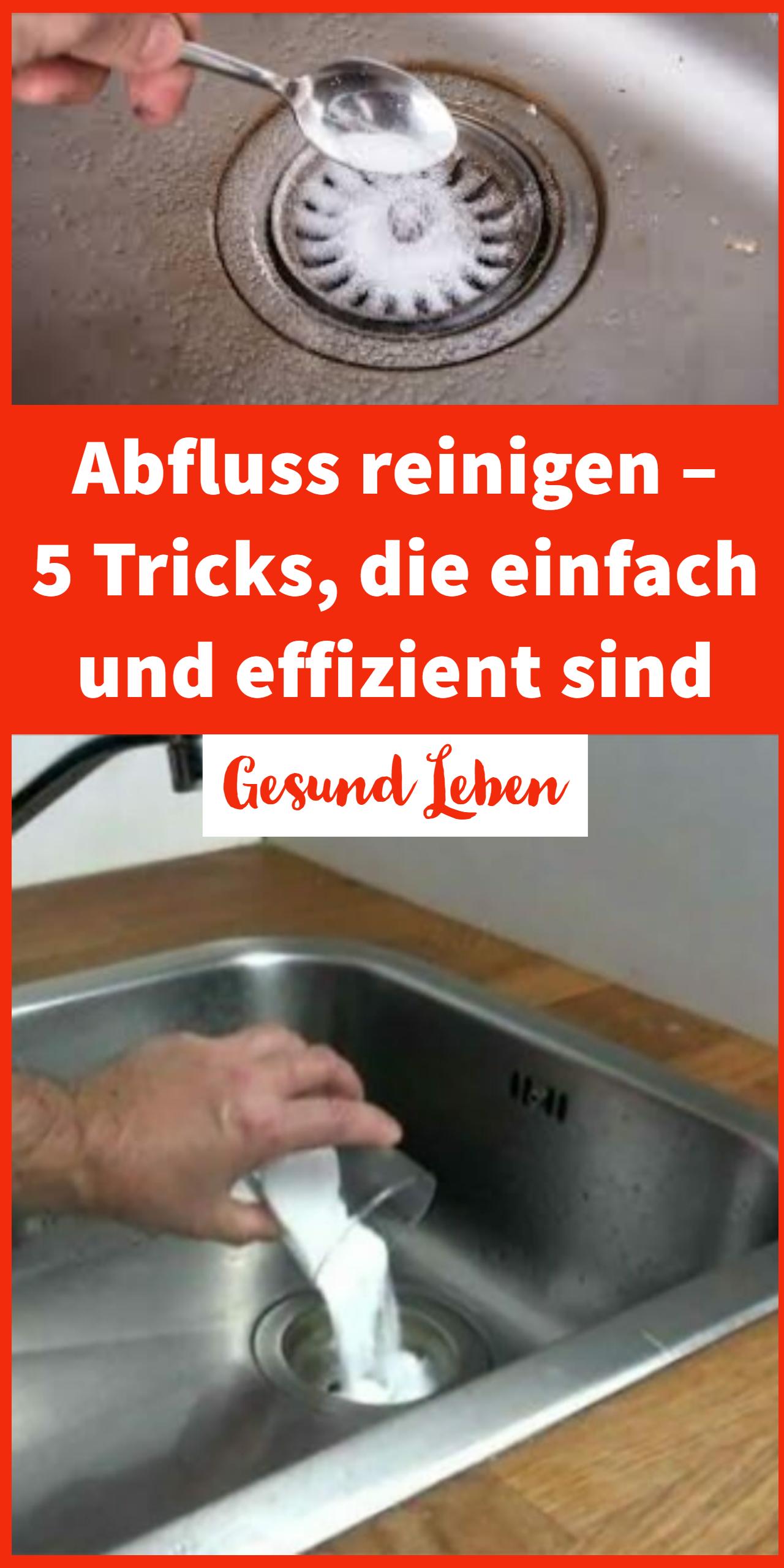 Abfluss Reinigen 5 Tricks Die Einfach Und Effizient Sind Tricks Reinigen Einfach