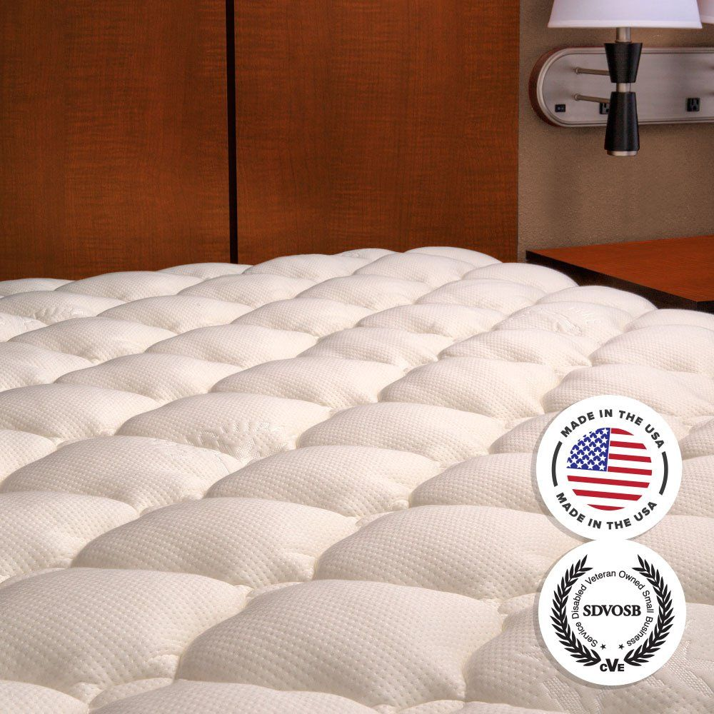 Extra Plush Bamboo Fitted Mattress Topper Made In