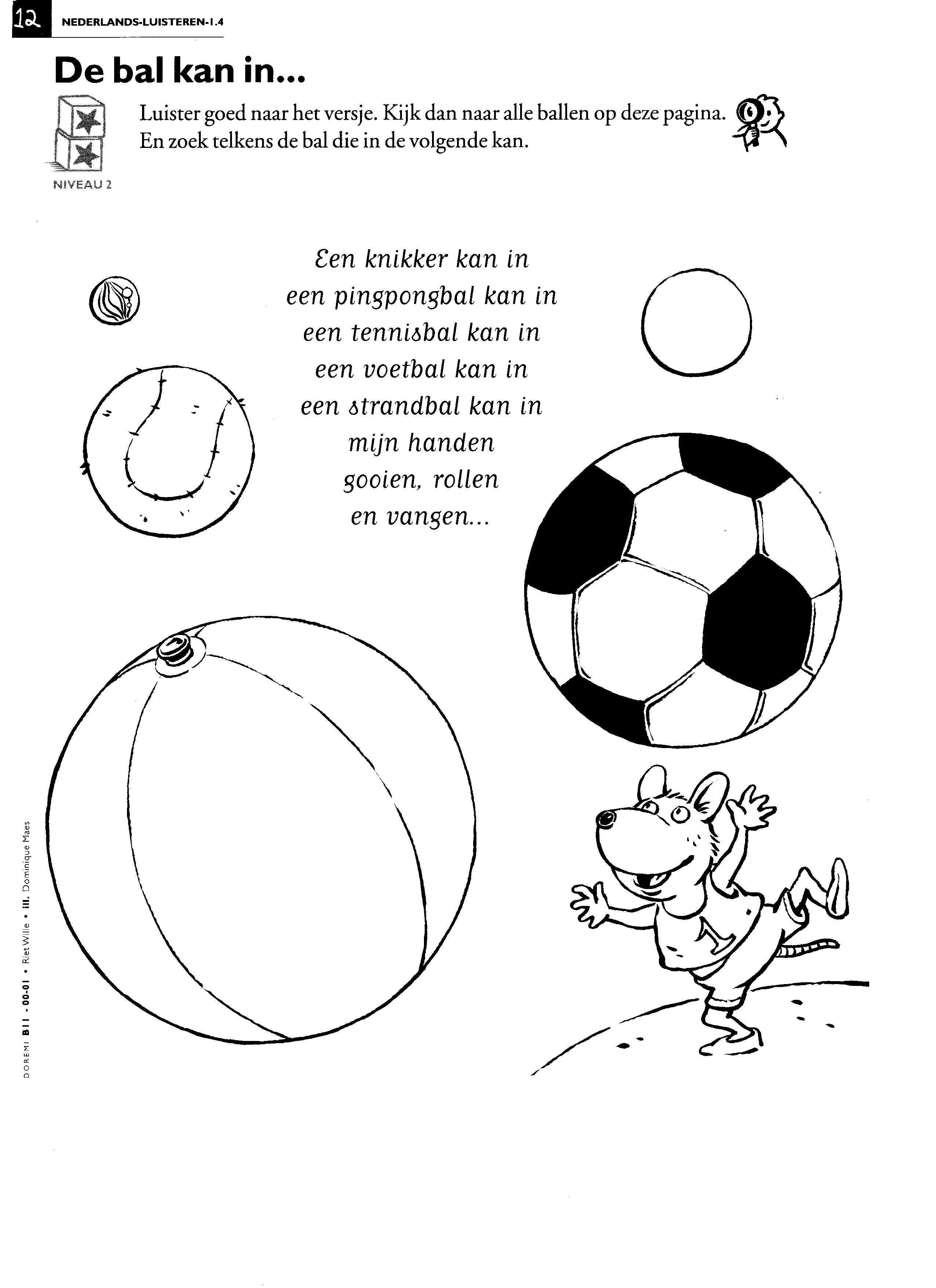 Versje De Bal Kan Ik Ballen Ballonnen Sport