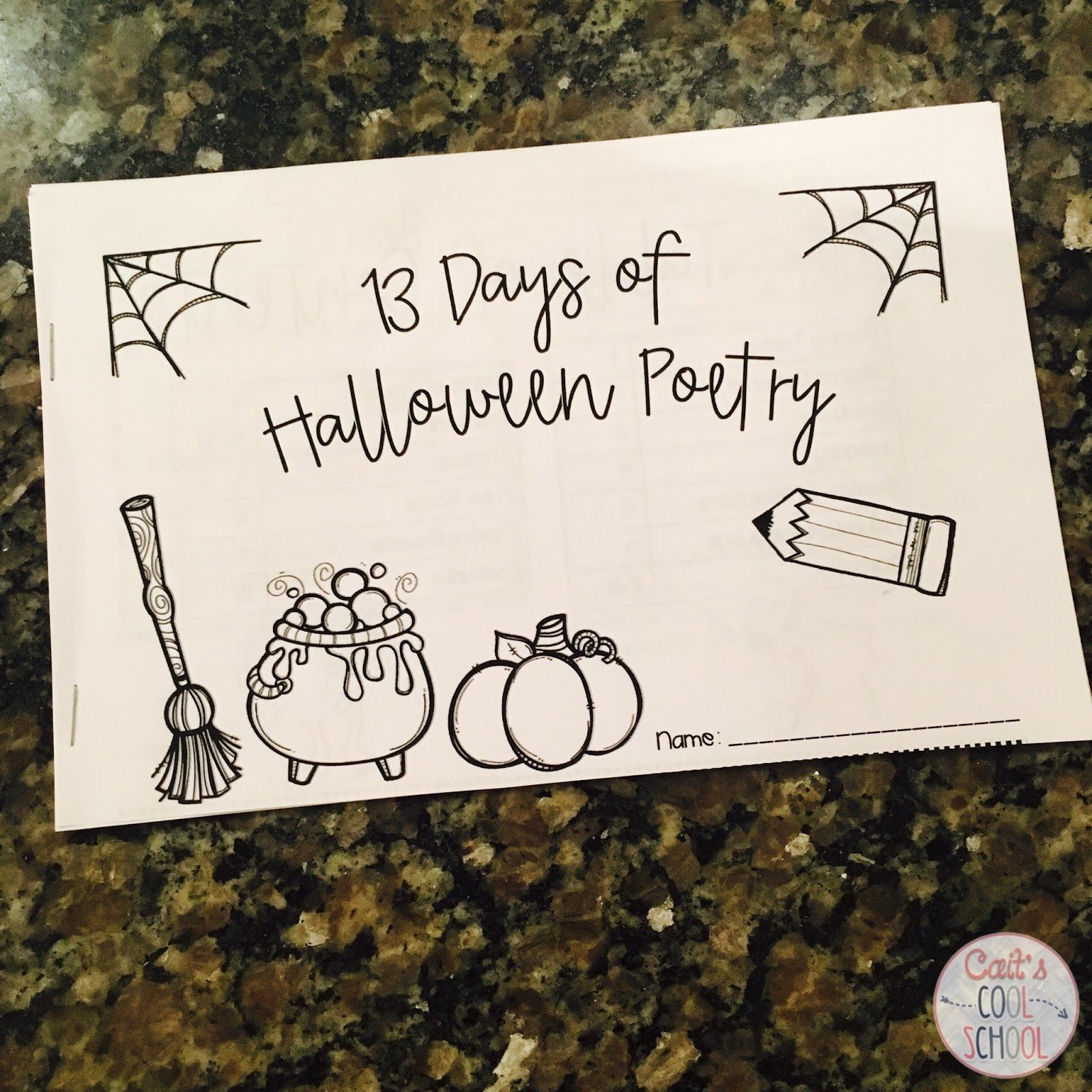 The one with Halloween activities for upper elementary