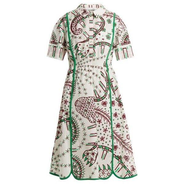 Leopard-print cotton-poplin dress Valentino oMhrfgg7