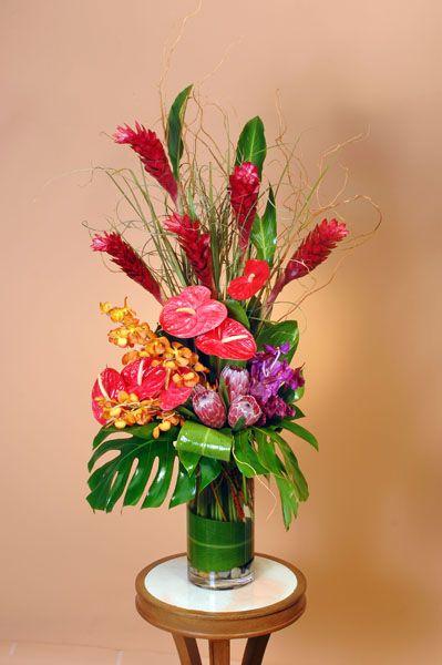 home decor silk floral arrangement floral decor tropical.htm flower arrangements ikebana  tropical and contemporary  with  flower arrangements ikebana  tropical