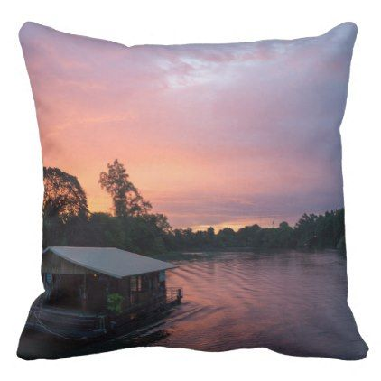 Sunset RK the River Kwai in Thailand Outdoor Pillow ... on Rk Outdoor Living id=74724