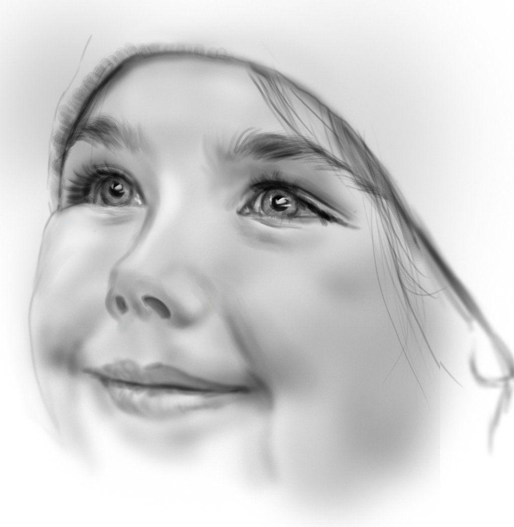 Детские лица картинки нарисованные карандашом, субботним