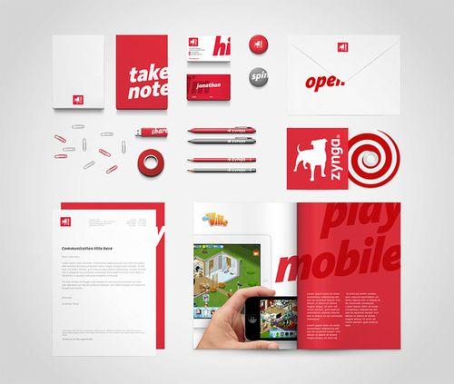 brandingidentitydesign: Zynga stationery set... | Must be printed