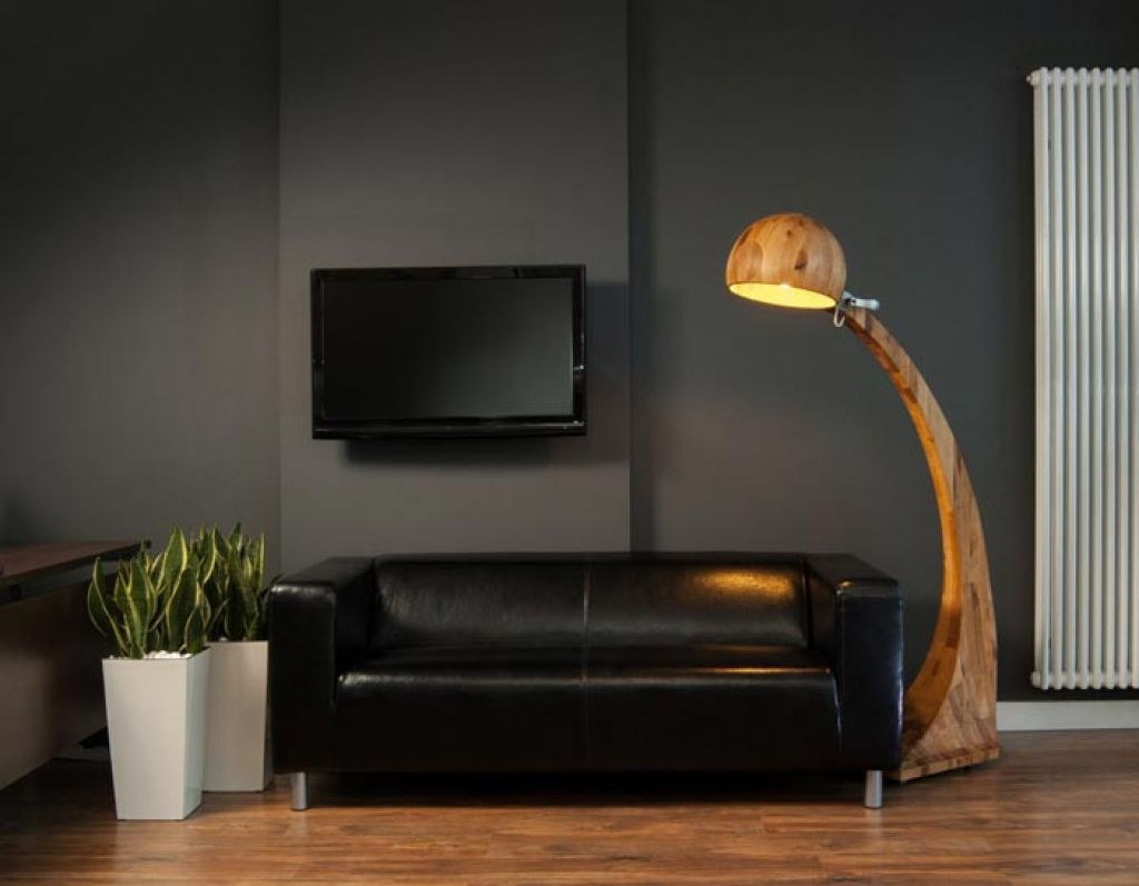 Living Room With Leather Sofa And Contemporary Cordless Lamp Useful And  Practical Cordless Lamps Check More