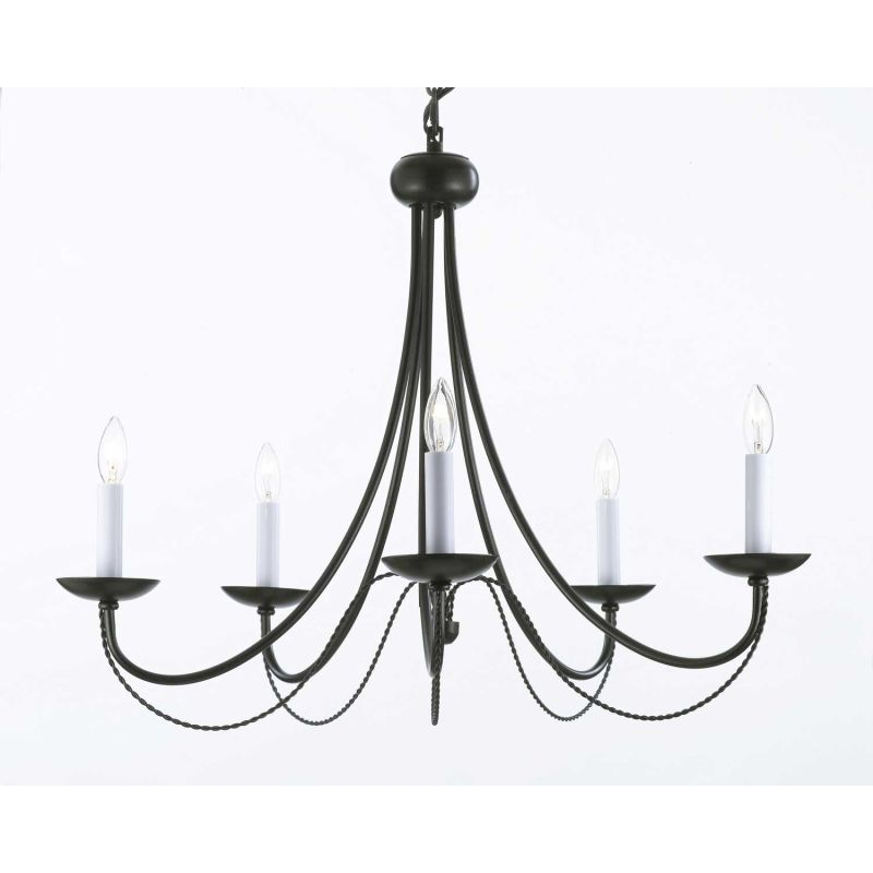 In Black Full Size Wrought Iron Chandeliers Iron Chandeliers
