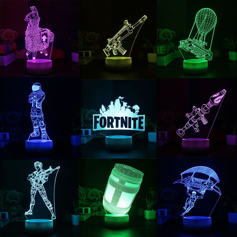 Fortnite Series 3d Lamp Llama Scar Led Night Light 7 Colors Table Lamp Gift Graffiti Room Fortnite Room Ideas Bedroom