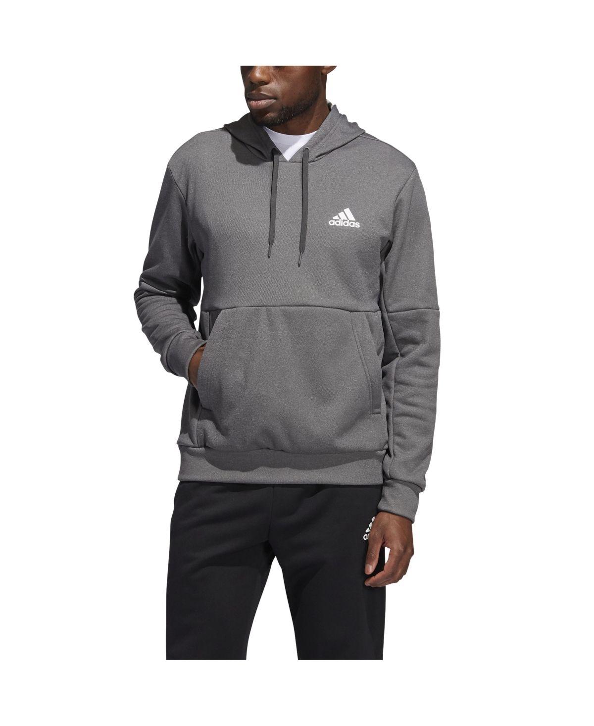Adidas Men S Game And Go Pullover Hoodie Dark Grey Heather In 2021 Adidas Fleece Hoodie Mens Activewear Adidas Men [ 1466 x 1200 Pixel ]