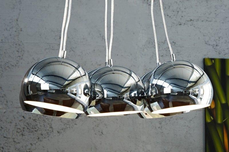 Visiaca lampa VIRGO M chróm - strieborná