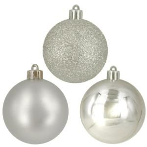 Home Accents Holiday 60 Mm Silver Ball Ornaments 30 Count B1 30S
