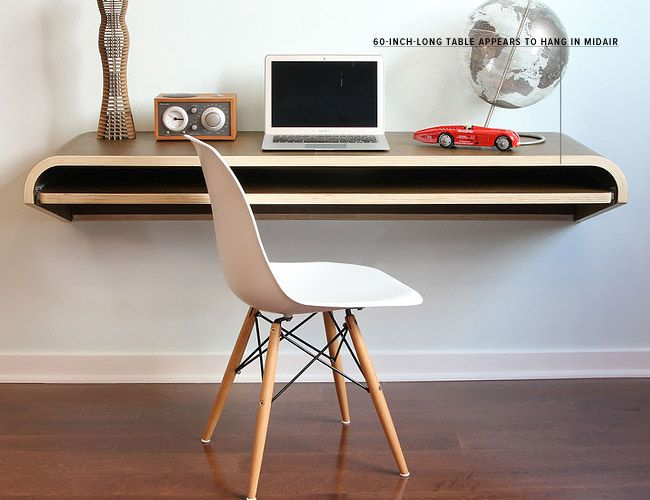 Wood White And Worked All Over 10 Modern Desks Wall Desk Floating Wall Desk Minimal Wall Desk