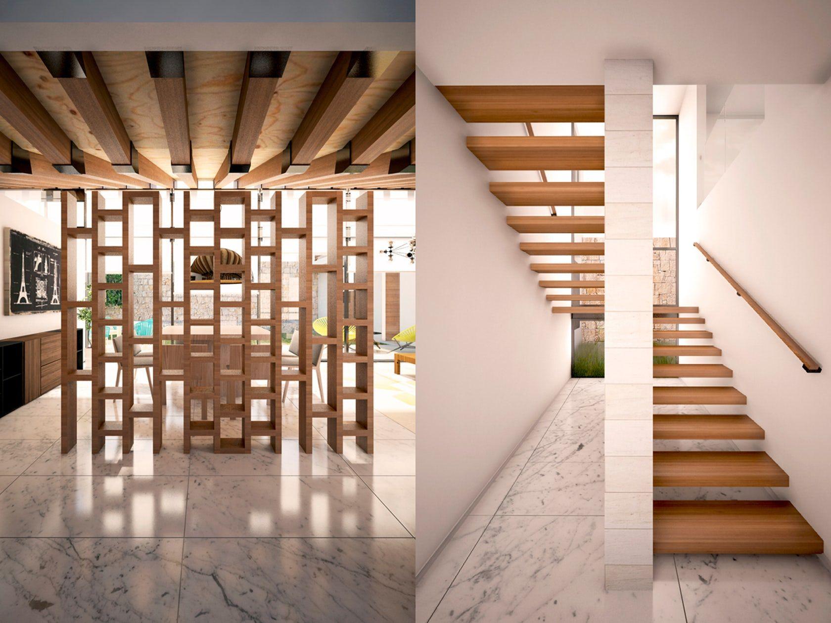 Detalle Celosia Escalera Madera Vigas De Madera Home Decor Home Decor