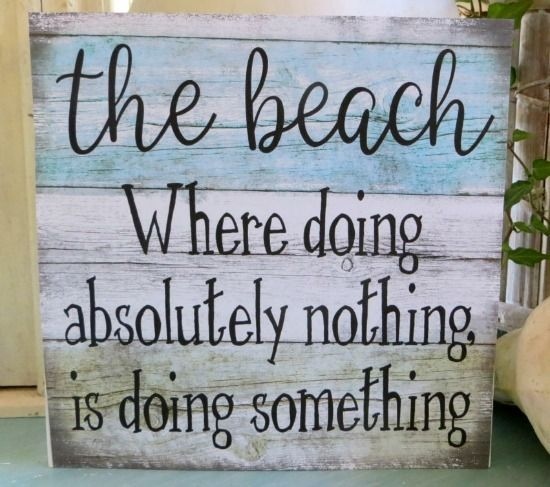Small Self Standing Beach Quote Wood Signs Beach Bathroom Decor Beach Wood Signs Beach Cottage Decor