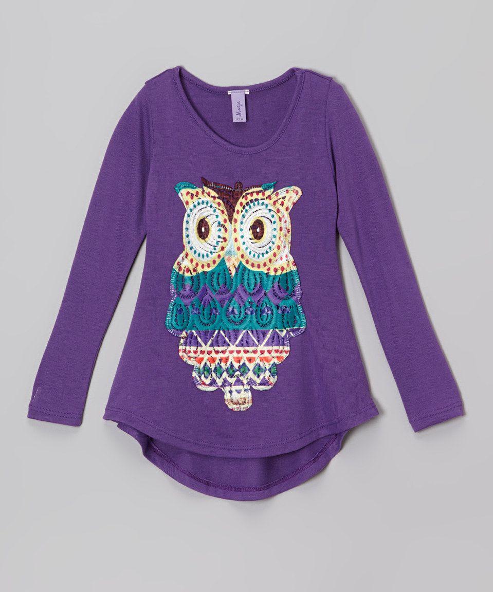Purple Owl Tunic - Toddler & Girls by Maya Fashion #zulily #zulilyfinds