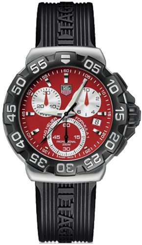 6a5ae3b1eee Tag Heuer Formula 1 Red Dial Chronograph Men s Watch CAH1112.FT6024