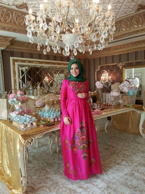 Tesettur Hamile Abiye Elbise The Dress Hamile Modasi Moda Stilleri