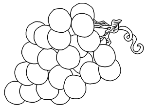 25 Free Printable Lovely Grapes Coloring Pages Online. Free Coloring ...