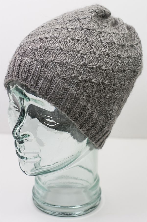 Free Knitting Pattern for Broderie Hat - This slouchy beanie uses an ...
