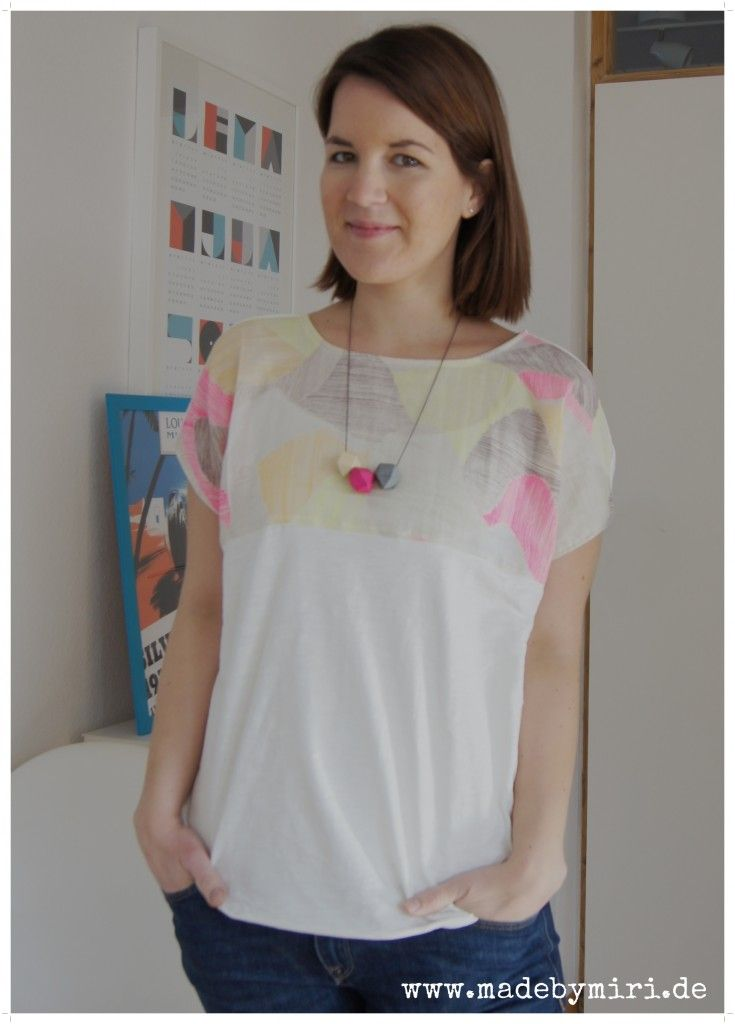 Idea for Salme Kimono top. Boxy top with Nani Iro fabric yoke (this ...