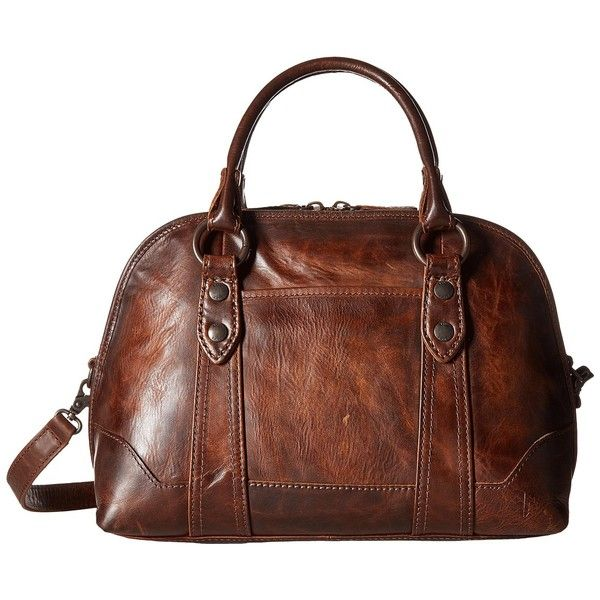Frye Melissa Domed Satchel (Dark Brown) Satchel Handbags ($428 ...