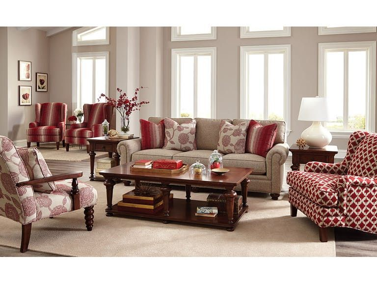 Paula Deen By Craftmaster Living Room Sofa   Tyndall Furniture Galleries,  INC   Charlotte, Mooresville, Pineville NC And Fort Mill, SC