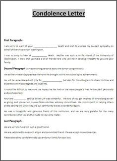 cca letter template - condolence letter to boss a boss in office is your