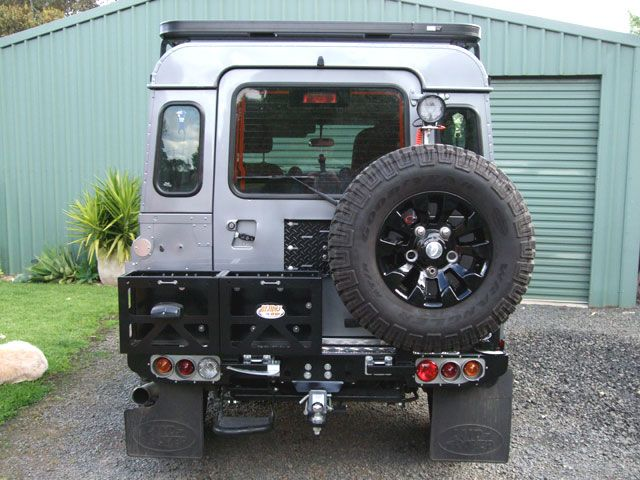 Yes At Last A Sensible Rear Wheel Holder And Jerry Cans Too
